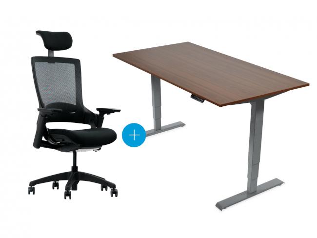 Desktopia Pro - verstellbarer Schreibtisch + Bürostuhl NextBack - Image Gallery Item 0