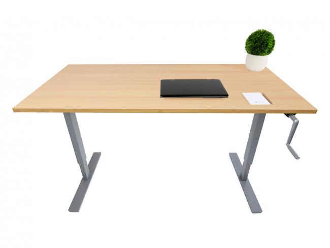 Desktopia Budget - Mit Kurbel höhenverstellbarer Schreibtisch - Image Gallery Item 0